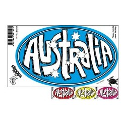 Oval Australia Sticker